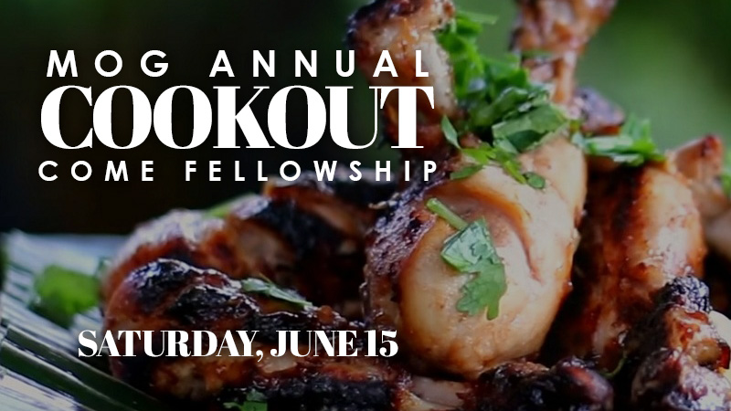 MOG Annual Cookout June 16, 2018
